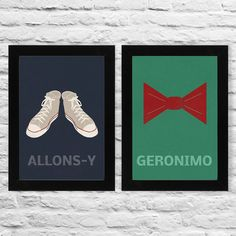 Allons-y, Geronimo, tenth and eleventh doctor, Doctor Who, Whovian, Wall Art, Geekery, Wall decor, Minimalist, A4, poster, prints