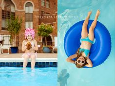 love the details like the straw! Pool Photography, Children Photography, Family Photography, Summer Pool Party, Summer Fun, Summer Ideas, Kids Bathing Suits, Pool Picture, Beach Kids