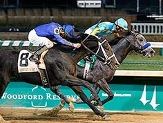 Zayat Stables' El Kabeir went to the front and kept on going Nov. 29 at Churchill Downs, just holding off Imperia to win the $233,000 Kentucky Jockey Club Stakes (gr. II) by a head. With this win, El Kabeir wins 10 points towards a start in the 2015 Kentucky Derby.