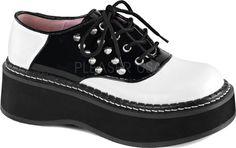 Demonia-Emily 303 Saddle Shoe