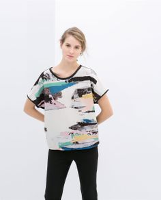 Image 1 of COLORED T-SHIRT from Zara