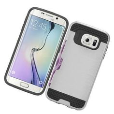 Samsung Galaxy S7 Edge Silver Protective Case w/ Credit Card Holder