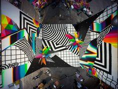 Acid Colors Street Art by Felipe Pantone – streetart Graffiti Art, Graffiti Designs, Collage Art, Collages, Glitch Art, Hippie Art, Mural Art, Psychedelic Art, Grafik Design