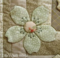 Ulla's Quilt World: Quilt blanket - Japanese flowers