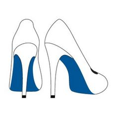 The mark consists of the color blue, which shall be used on the soles of women's footwear