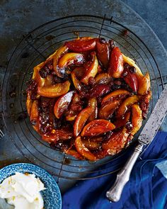 Golden pastry topped with caramel apples and Grand Marinier-soaked sultanas – our take on a classic French tarte tatin is decadent dessert done right.