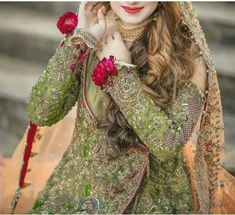 Uploaded by Aıshā ツ. Find images and videos about bride, indian and weddings on We Heart It - the app to get lost in what you love. Pakistani Mehndi Dress, Bridal Mehndi Dresses, Pakistani Wedding Outfits, Bridal Dress Design, Bridal Style, Pakistan Bridal, Wedding Dressses, Girls Dp Stylish, Bridal Poses