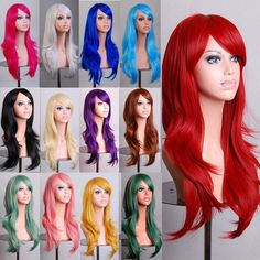 ERIS WIG 70cm Long Curly Wig Cosplay Costume Anime Hair Full Wavy Wig Hair #Unbranded #FullWig