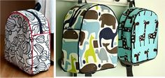 Pattern for DIY Backpacks. I wish I was gifted enough to make one of these for the kids!
