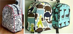 Pattern for DIY Backpacks.