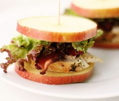 These chicken bacon apple sliders are a great diabetic snack with almost no carbs to worry about.