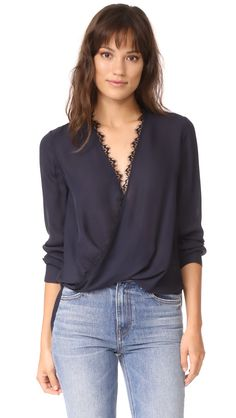 Rosario Blouse in Navy by L'Agence