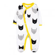 Unisex Baby Autumn Rompers Long Sleeve 3-9 Months Black Cat