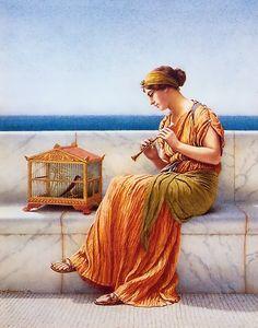 John William Godward - Song Without Words (1919)