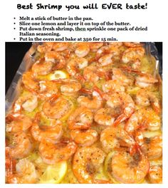 Really easy and tastes great.  I think that the butter can be a smaller amount. BEST SHRIMP YOU'LL EVER HAVE IN 15 MINUTES! | Mamelah's Magnificent Recipes