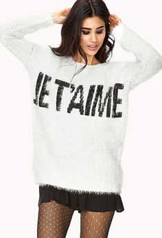 French Moment Fuzzy Sweater | FOREVER 21 - 2077471225