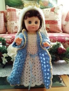 Crocheted Musical Blessed Mary Doll by Anna's Array, $35.00 USD