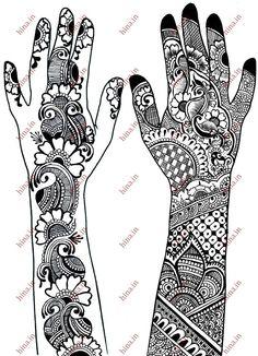 arabic bridal henna design tasslima hussain Arabic Bridal henna design