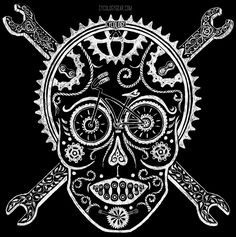 Pedal Wench: Female Skull -yep...with pedal wrenches. :)