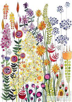 pokój dziecka - ilustracje-Kwiatki III
