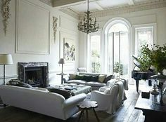 Classy living room, natural light, comfortable, really nice