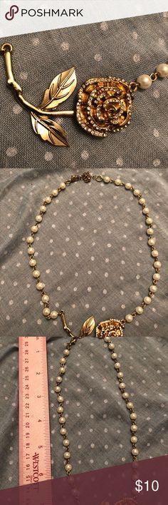 Romantic rose necklace. Romantic rose costume jewelry. Jewelry Necklaces