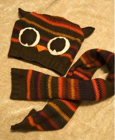 Outgrow a comfy fall sweater? A few snips and stitches will turn your old pull-over into an adorable owl scarf and hat set for your little one!
