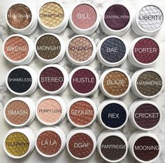 Colourpop Eyeshadows: erotic, Tea party, So quiche,Shameless, Drift, Lace,Envy,Sunset blvd,Mooning, Rex,Stereo,Friskie,weenie,hustle,blaze