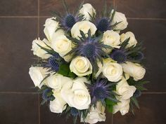 White roses and Thistle
