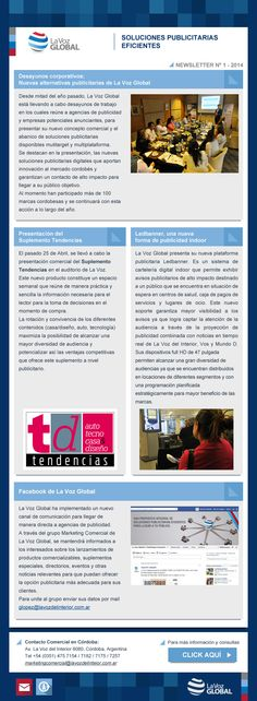 Newsletter para La Voz Global