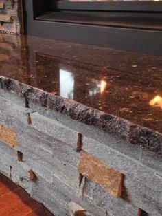 Like The Chiseled Edge On The Granite For The Kitchen Countertops, More  Rustic Feel.
