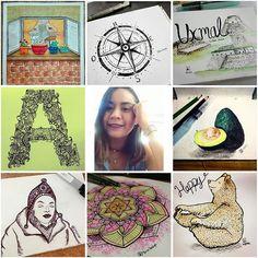 Algunas de mis ilustraciones #artvsartist2018 . . .  #ilustracion #illustration #art #arte #instart #watercolor #acuarela #aquarelle #doodle #zentangle #sketch #sketchbook #mandalas #ink