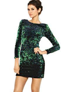 Motel Gabby Iridescent Sequin Dress