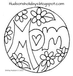 Hudsons Holidays - Designer Shirley Hudson: Mom - freebie friday pattern design