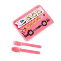 Lunch box bus boîte goûter bus rose kitsch kitchen vente accessoires et objets décoration enfants : My Little Bazar.