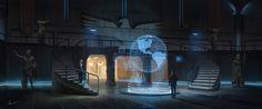 Observation hall, Albert Urmanov on ArtStation at https://www.artstation.com/artwork/observation-hall