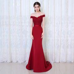Mermaid Long Evening Dress Party Elegant Long Prom Gown 2017