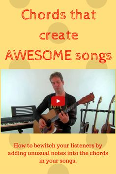 Learn awesome new chords for songs. Bewitch your listeners by adding unusual notes into your songwriting to the chords that you already know! Music Sing, Learning To Write, Music Production, Best Songs, Playing Guitar, Guitars, Musicals, Singing, Lyrics