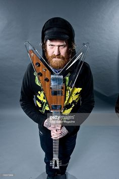 Brent Hinds of Mastodon backstage at the O2 Academy on February 5, 2012 in Bristol.