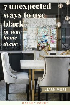 Whether you prefer a whisper or a shout, bring black into your home decor and be elegant and on-trend doing so! The black color trend is here to stay! Hot Pink Room, Monochromatic Room, Traditional Style Homes, Ethnic Decor, Black And White Aesthetic, Best Paint Colors, Black Ceiling, Living Room Trends, White Home Decor