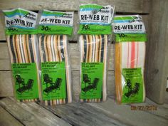 """Arden Paradise Re Web Kit 3"""" width 30 Ft Packs - Aluminum Lawn Chair Refurbish by EvenTheKitchenSinkOH on Etsy"""