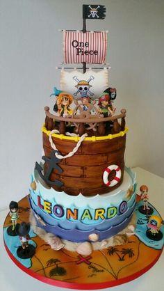 Torta One Piece pirate cartoon