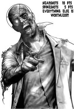 Resident Evil Zombie Target by !RickBarrs on deviantART