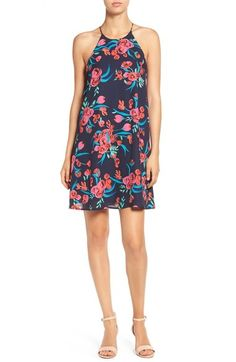 Everly Floral Print High Neck Shift Dress available at #Nordstrom