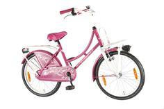 Meisjesfietsen :: meisjesfiets 20 inch :: Kanzone Oma donker Roze 20 inch meisjesfiets - 22027 - Volare Kinderfietsen