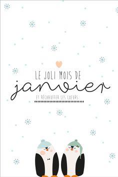 Jolie carte à imprimer - Janvier 2018