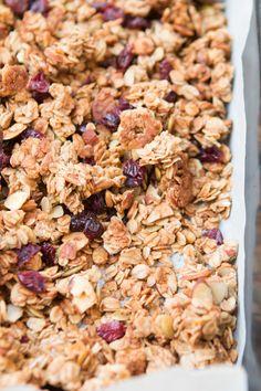 Our FAVORITE granola recipe~~strawberry almond granola ohsweetbasil.com