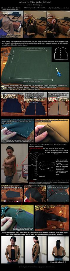 Attack on Titan Jacket Tutorial - basic shape. by neptunyan on deviantART