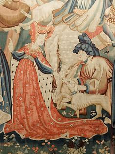 Devonshire Hunting Tapestries: Boar and Bear (Detail), years pre-Tudor) Medieval Life, Medieval Art, Renaissance Art, Medieval Tapestry, Medieval Paintings, Medieval Costume, Medieval Clothing, Dark Ages, Tapestry Weaving