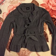 Gray sweater Gray sweater that resembles a blazer! It is made out of cotton and polyester. It also has never been worn. Dots Jackets & Coats Blazers